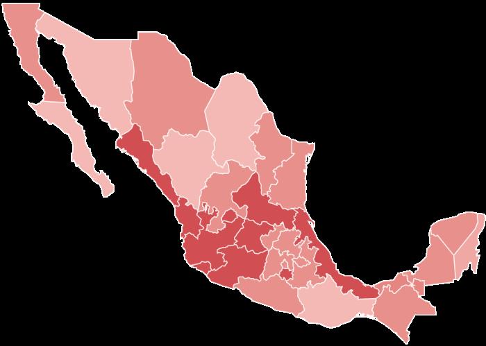 Mapa de distribución de vega implementos
